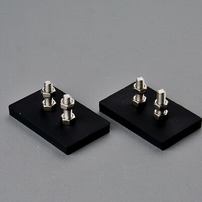 2PC Rubber Coated Rectangle Magnets Super Strong 15KG Magnet Base Anti-scratch Base Rectangle Magnet