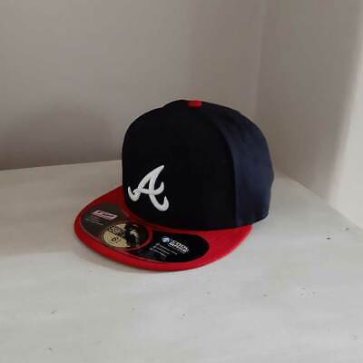 new styles b1210 74965 KIDS Atlanta Braves New Era MLB OnField 59FIFTY Fitted Cap - size 6 3 4