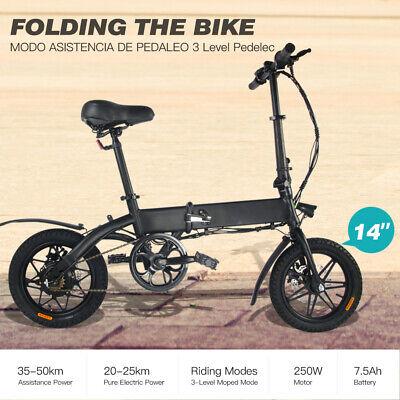 Megawheels Bicicleta eléctrica Plegable 250W 14''