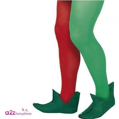 Adult Elf Boots Green Mens Ladies Christmas Fancy Dress Costume Little Helper - Mens Elf Shoes