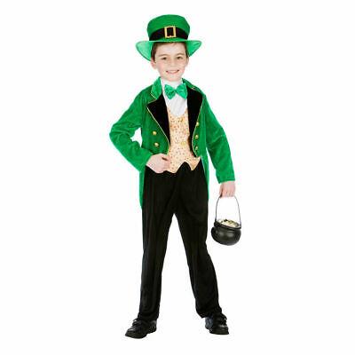 Jungen 5-7 Jahre Kinder Kobold Irisch St.Patrick's Day Kostüm Kleid - Jungen Kobold Kostüm