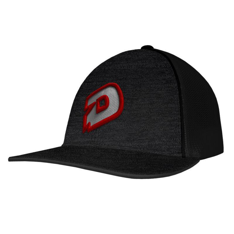 DeMarini D Logo Baseball/Softball Snap-Back Trucker Hat - Black/Gray/Red
