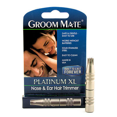 Platinum XL Battery-Free Nose & Ear Hair Trimmer - Lifetime Warranty Made in USA, used for sale  Shipping to India