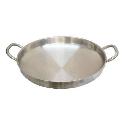 19 Inch Camal Frying Pan Griddle Stainless Steel Caso Pot Pan Wok Gas Stove