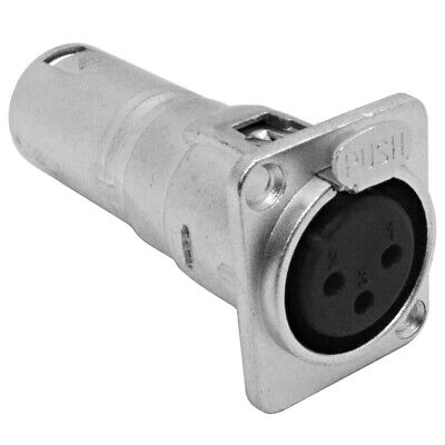 ProCraft PXLRFP Chassis Panel Mount Female XLR Connector in Nickel 50 Pack