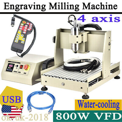 4axis Cnc 3040 Engraving Drilling Machine Cutter Engraver Usb Port Routerremote
