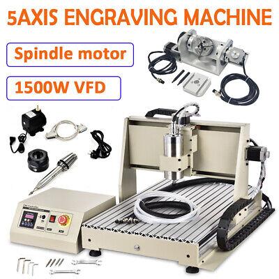 Usb 5 Axis Engraver Cnc6040 Router Engraving Machine 3d W Remote 1500w Kit Us