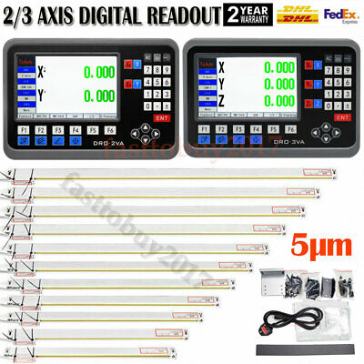 23axis Lcd Dro Digital Readout Ttl Linear Glass Scale Edm Lathe Mill Machine Us