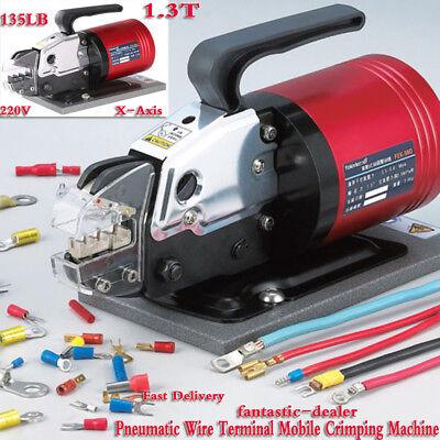 Pneumatic Wire Terminal Mobile Crimping Machine Electric Crimper Tool 1.3t Usa