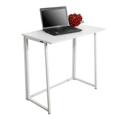 Folding Computer Desk Wooden Foldable Study Coffee Table Laptop Office PC