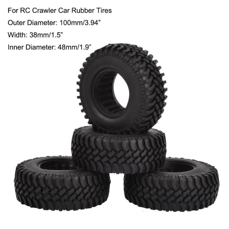 "RC 100mm 1.9"" Tires Tyre for Traxxas TRX-4 SCX10 D90 1/10 RC Rock Crawler Car"