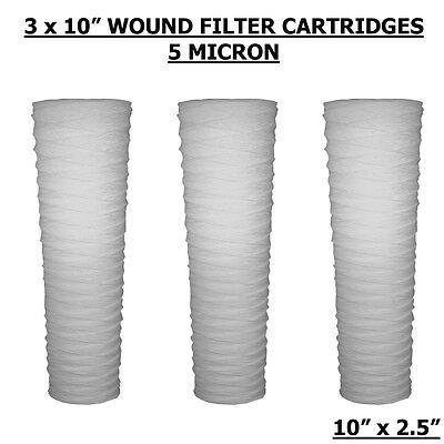 10 Pp Wound Yarn 5 Micron Sediment Water Filters Hard Wardwvobiodiesel 3pack