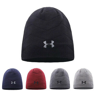 Under Armour knitted Hat Wave Stripe Beanie UA Winter Warm Sport Cap Xmas Gift Beanie Under Armour