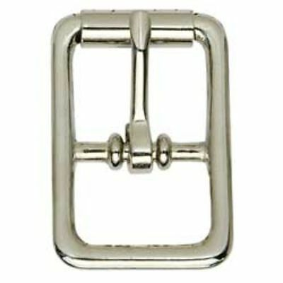 Center Bar Roller Buckles - Nickel Plated 1/2 inch (1509-10) White Bear Leather