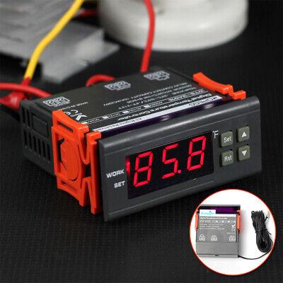 10a 110v Digital Temperature Controller Temp Sensor Thermostat Control Relay Kit