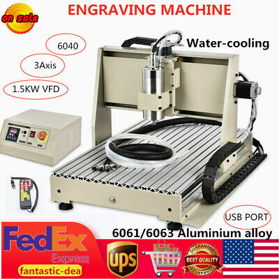 3 Axis Cnc Router 6040 Engraving Milling Machine Cutter Engraver Usb 1500w New