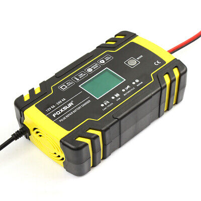 Digital Car Battery Charger 12/24V 8A Touch Screen Pulse Repair Fast Charging