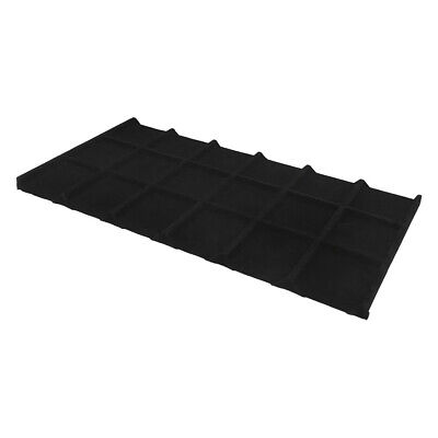 """18 Divided Black Velvet Insert Tray Jewelry Display Compartment 14"""" x 7-1/2"""""""