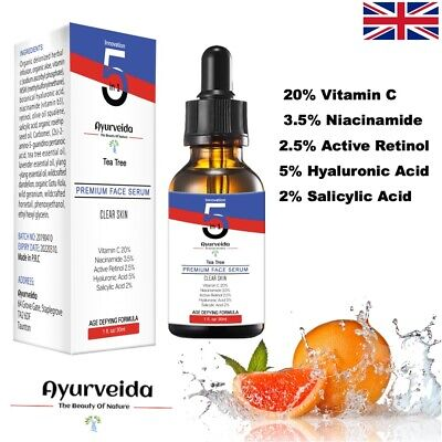 Best Vitamin C Serum For Face -Collagen Booster/Retinol/Hyaluronic