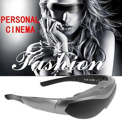 """Android 4.4 Quad Core WiFi Smart Video Glasses 80"""" Touch Virtual WideScreen H4R1"""