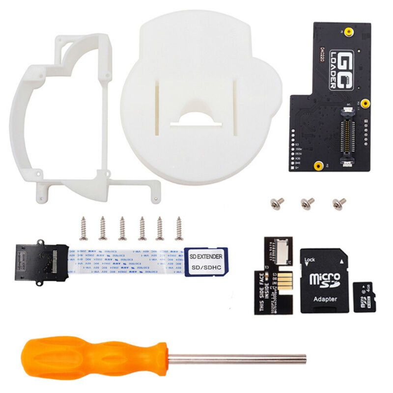 GC Loader SD2SP2 3D Printed Tray/Mount+Drive Board Adapter Kit for Gamecube NGC