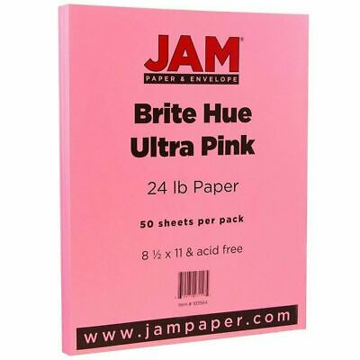 JAM PAPER Colored Letter Ultra Pink