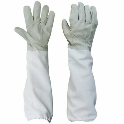 1 Pair Vented Long Sleeves Beekeeping Protective Gloves Guard Long Gloves White