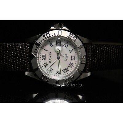 Invicta 18398 'Angel' Swiss 40mm Quartz MOP Dial Brown Leather Women's Watch