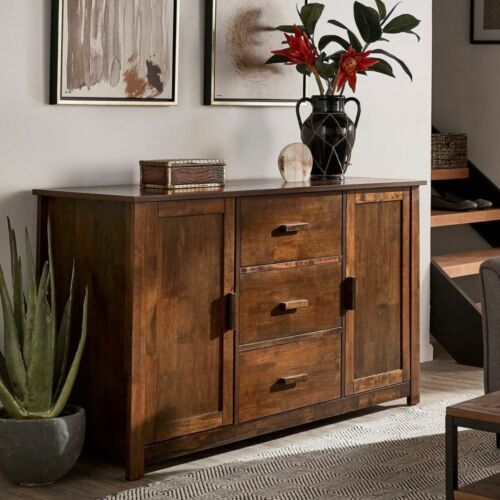 Rustic Buffet Table Storage Cabinet Sideboard Cupboard Credenza Stand Solid Wood
