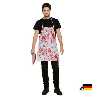 HERREN Blutige SCHÜRZE APRON Halloween Fasching Karneval Kostüm Metzger ABAV