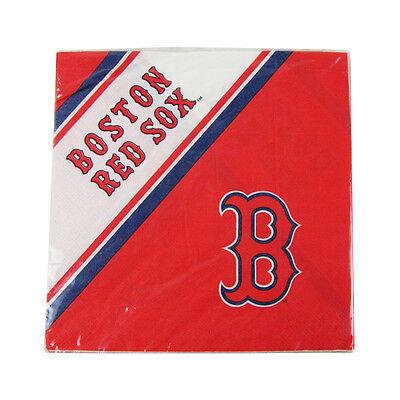 New MLB Boston Redsox 20pcs Dinners Napkins Partyware Party Supplies - Boston Red Sox Party Supplies