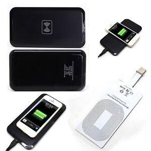 qi chargeur sans fil de tampon r cepteur pour iphone 6 6plus 5s 5c 5 df ebay. Black Bedroom Furniture Sets. Home Design Ideas