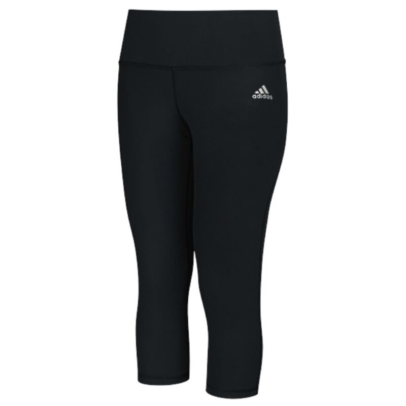 adidas Women's CLIMALITE 3/4 Capri Mid-Rise Workout Leggings All Sizes