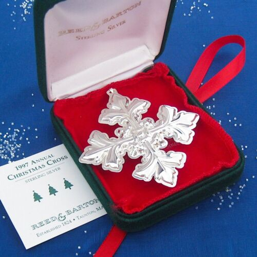 NEW • Reed & Barton 1997 CHRISTMAS CROSS Sterling Silver Ornament 27th Edition