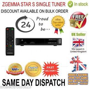 Zgemma Star S HD Single Tuner Satellite Receiver Linux Operating System FTA IPTV