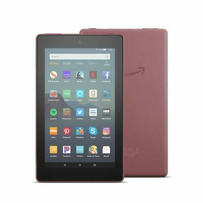 """NEW Amazon Kindle Fire Tablet 7"""" 16 GB- 9th Generation 2019 Release - PLUM RED"""