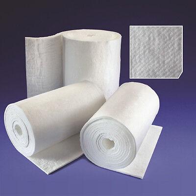 25mm Ceramic Fibre Blanket for Kiln Insulation Raku Furnace Gas Forge Pizza Oven
