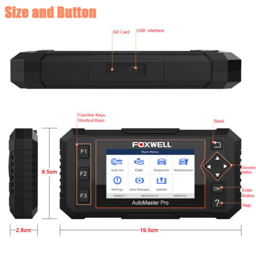 Automotive Four Systems OBD2 Diagnostic Scanner Engine ABS SRS OIL EPB Scan Tool