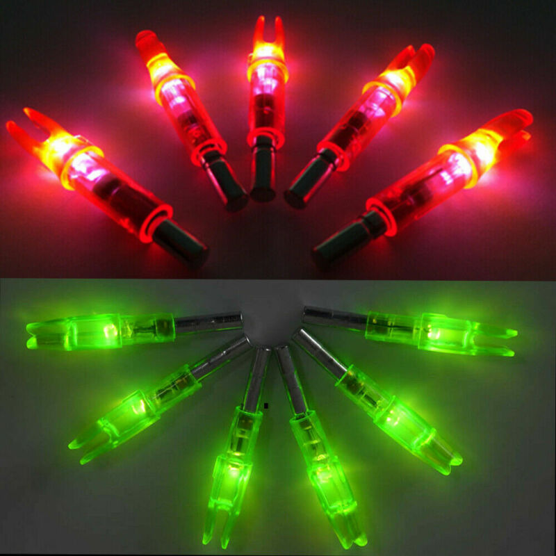 24pc Archery Lighted Bow LED Glowing Arrow Nock Tail Fit ID 6.2mm Hunting Target