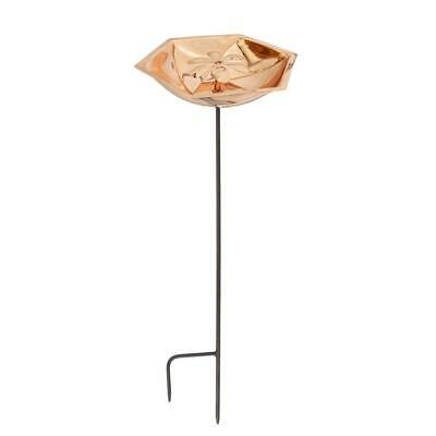 Achla Designs Copper Plated Bowl and Stake, Bee Fountain and Birdbath (Achla Designs Copper Stake)