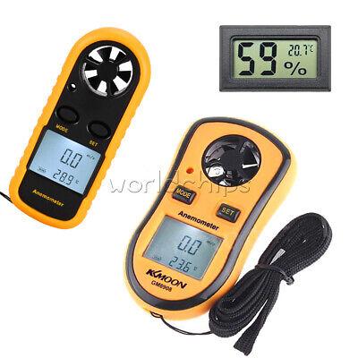 Mini Digital Lcd Anemometer Thermometer Air Temprature Meter Wind Speed Gauge