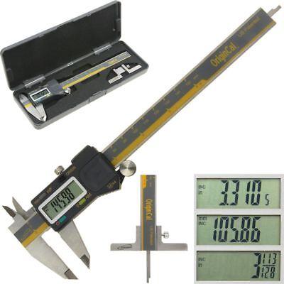 Igaging Electronic Caliper Absolute Origin 6 Digital Depth Gauge Base Fractions