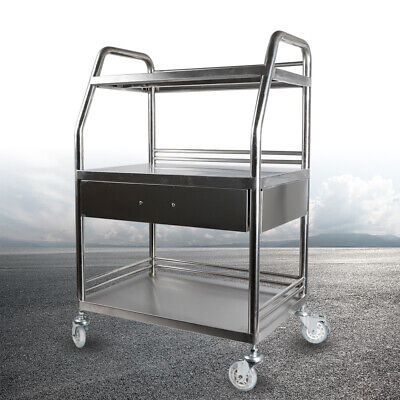 Multifunction 3 Layers 1 Drawer Cart Standstrolley Lab Stainless Steel Trolley