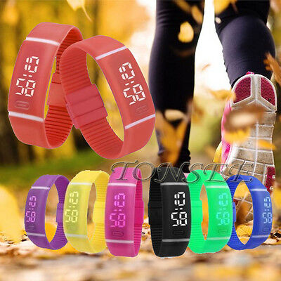 Mens Womens Cheap Silicone Belt Sport Date Sports Bracelet Digital Wrist Watch](Cheap Womens)