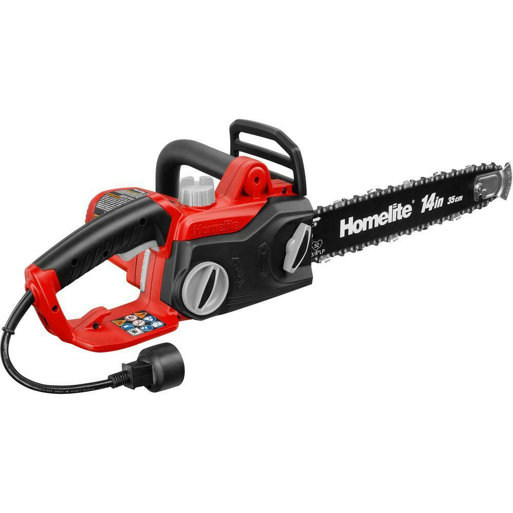 Homelite New 14 inch 9 Amp Electric Corded Chainsaw, Chain B