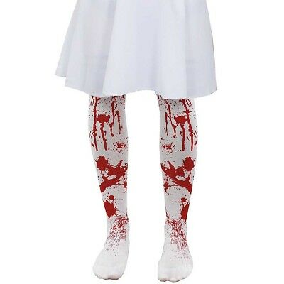 CHILD BLOOD STAINED TIGHTS HALLOWEEN ZOMBIE HORROR GIRLS FANCY DRESS BLOODY ](Baby Zombie Clothes)