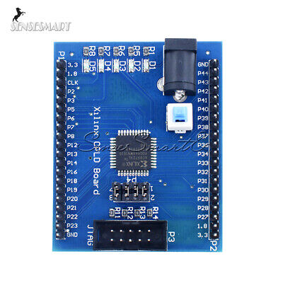 Xc9572xl Xilinx Cpld Ams Development Learning Test Board With 4 Programm Led