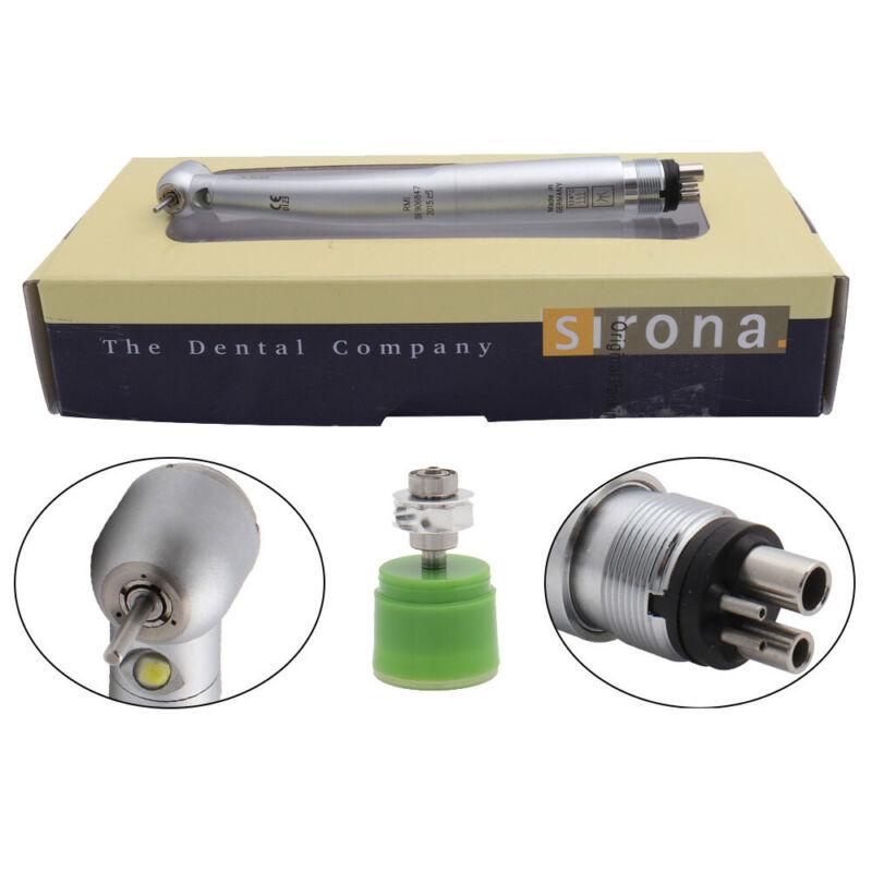 Dental LED High Speed Handpieces Triple Spray TU 4Hole M4 Ceramic Sirona Turbine