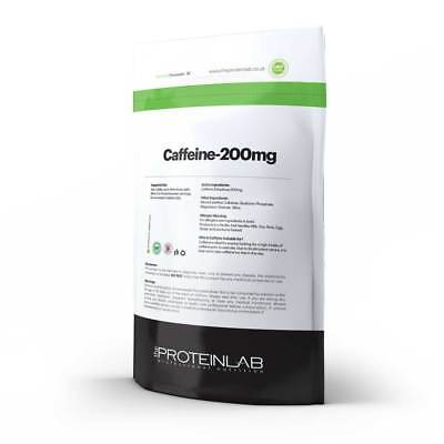 Caffeine Tablets 200mg Energy Boost Pills Slimming Pre workout Fat Loss Aid 120F