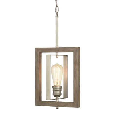 Home Decorators Palermo Grove 1-Light Antique Nickel Mini-Pendant ()